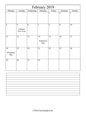 Print Free Calendar 2019 2020