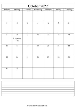 October 2022 Calendar Word.October 2022 Calendar Templates