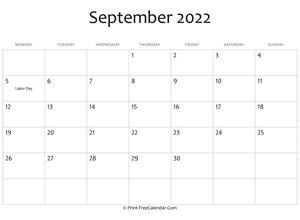 Editable September 2022 Calendar.September 2022 Calendar Templates
